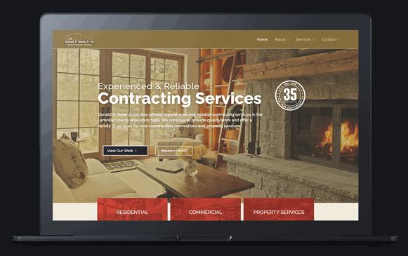 stowe builder website on laptop screen