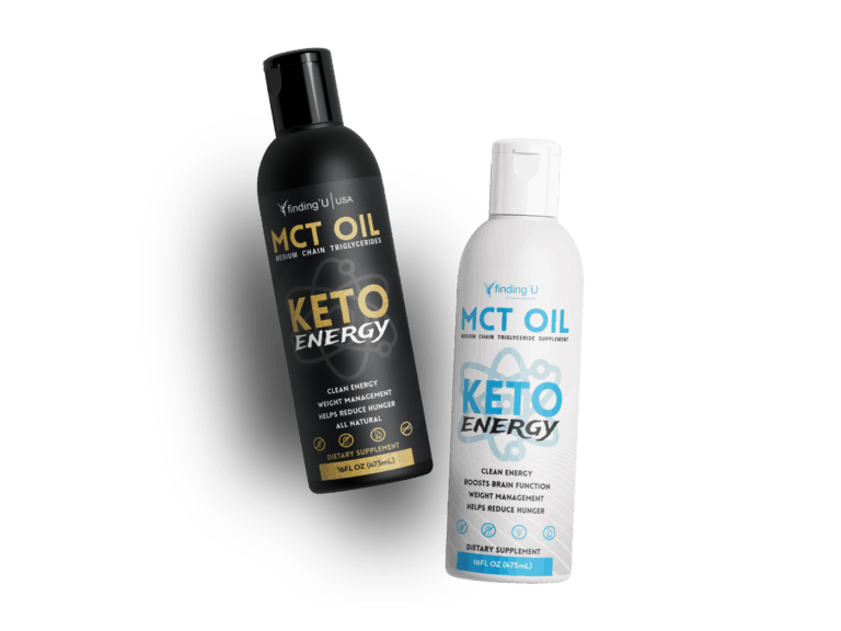 black and white versions of the keto energy bottles