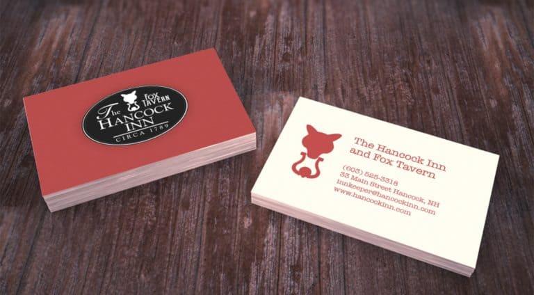 Fox Tavern & Hancock Inn Business Card Design