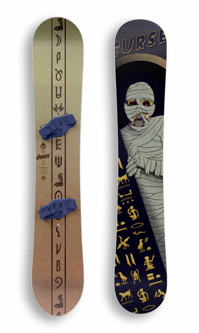 Curse Snowboard Mockup