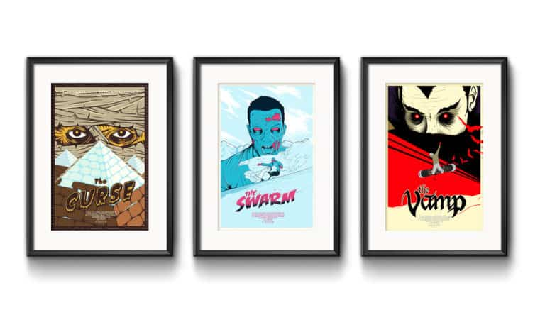 three chemical storm snowboard posters