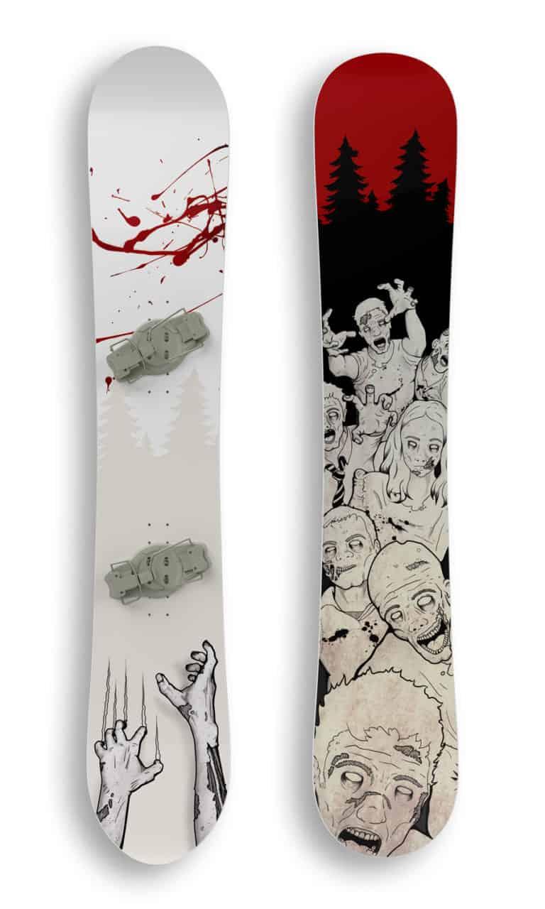 The swarm snowboard mockup