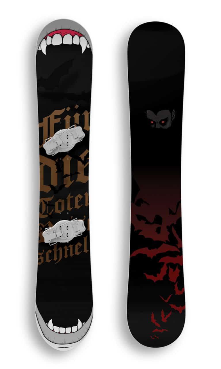 the vamp snowboard mockup