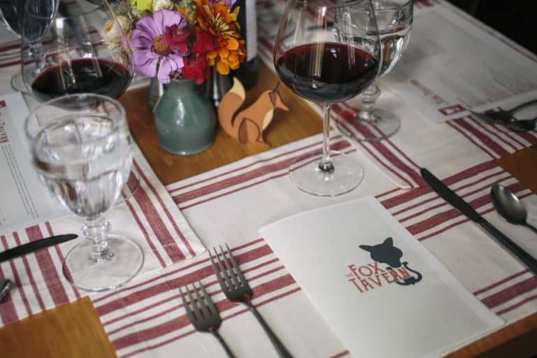 Fox Tavern Table Setting