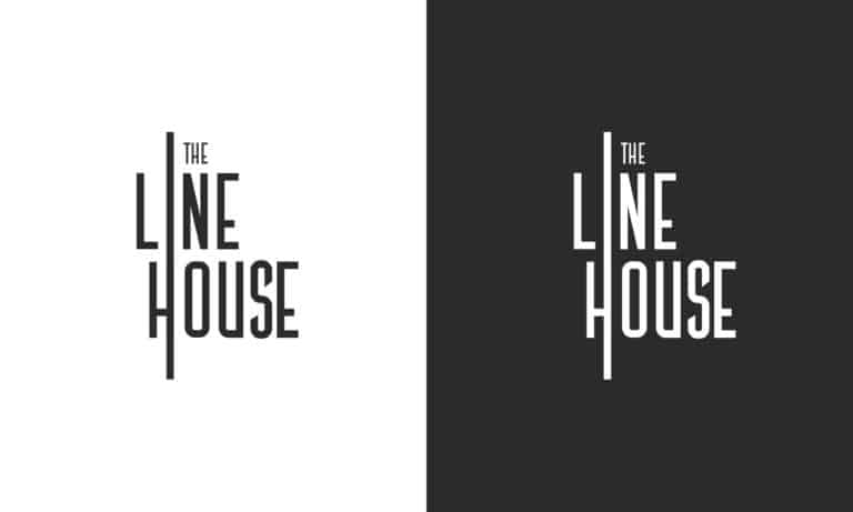 the linehouse logo in both black and white