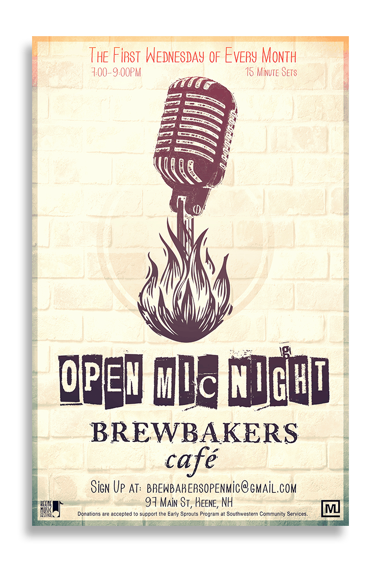 Brewbakers Open Mic Poster