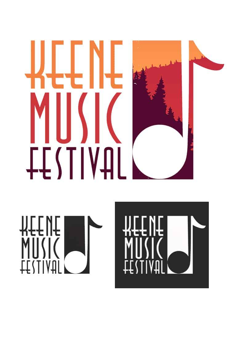 keene music festival logo samples