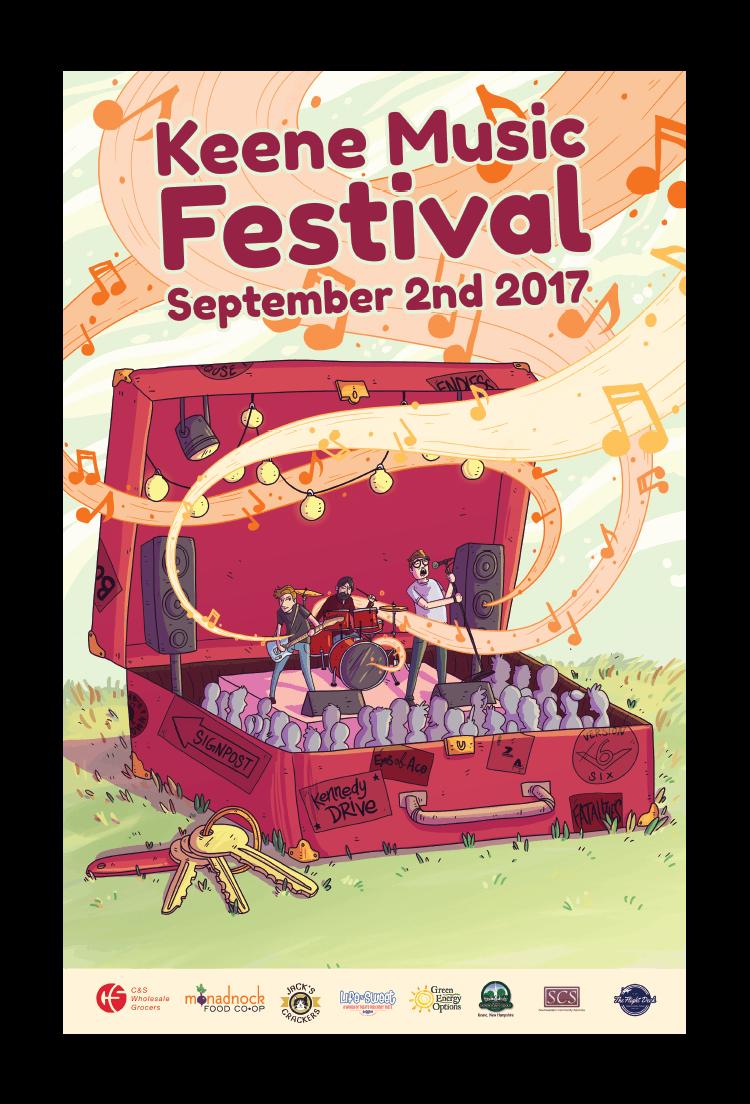 Keene Music Festival 2017 Poster