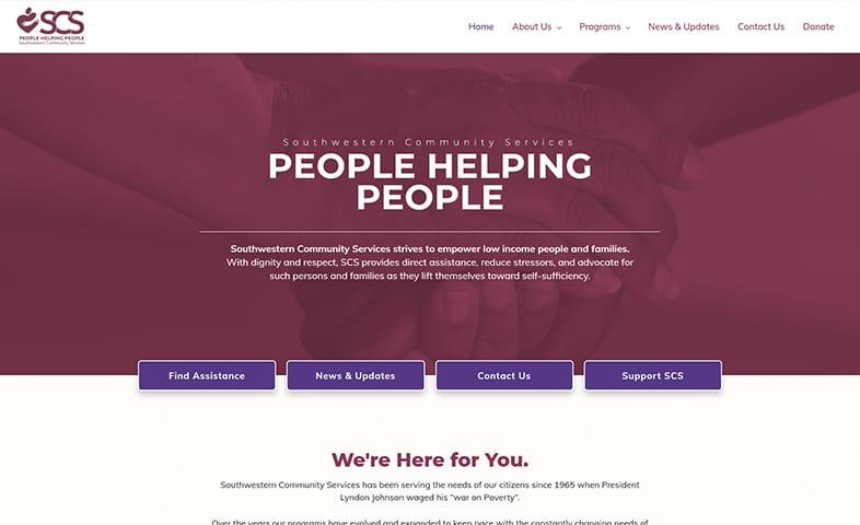 SCS website after redesign
