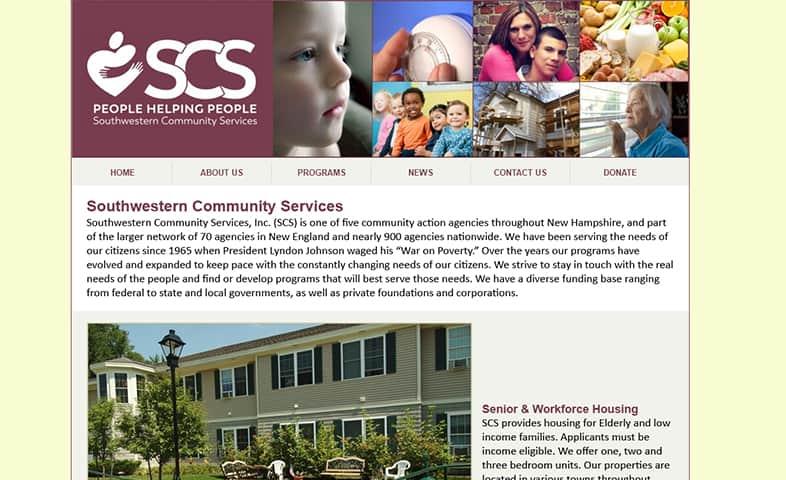 SCS website before redesign