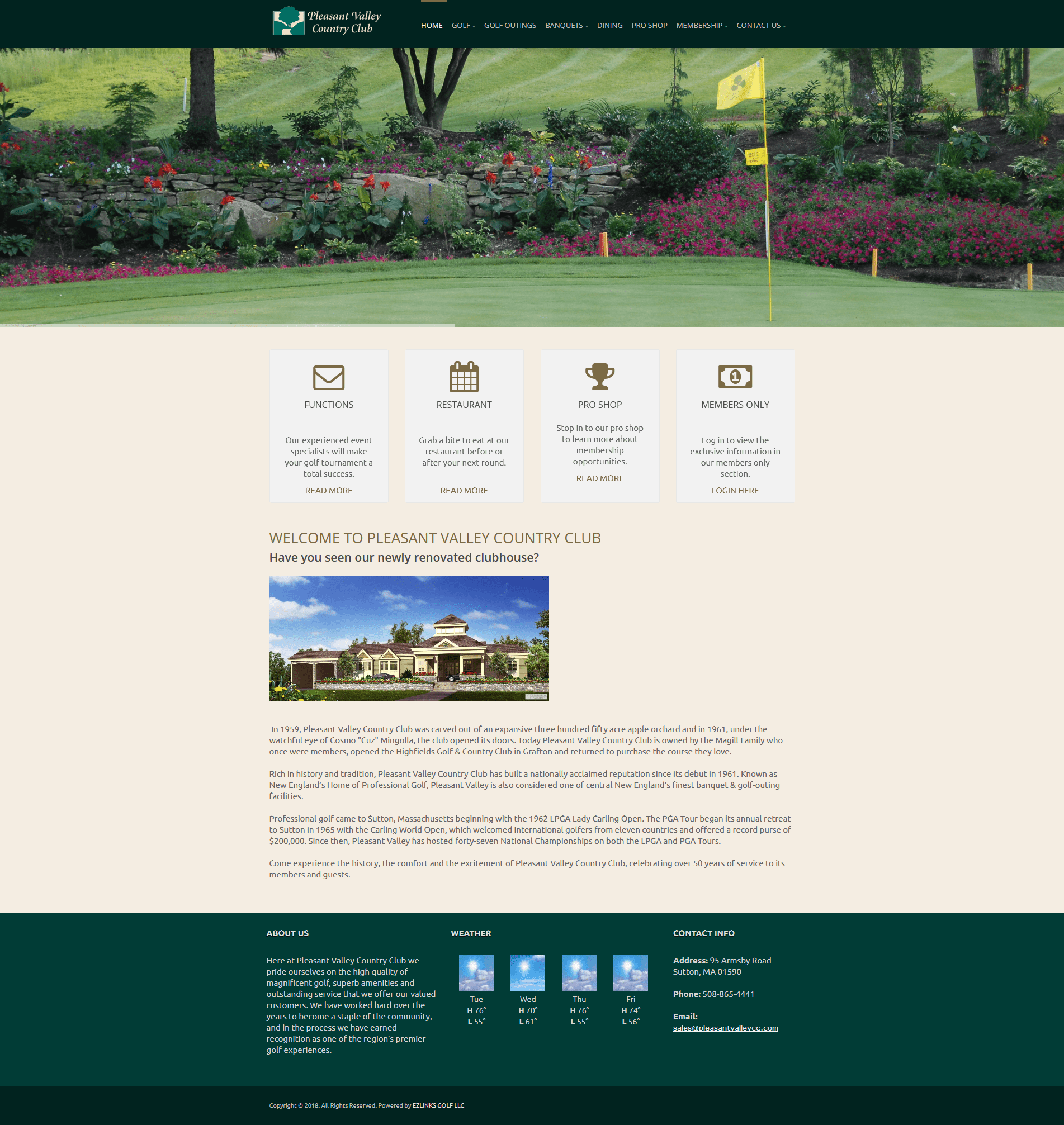 Old Pleasant Valley Country Club Website