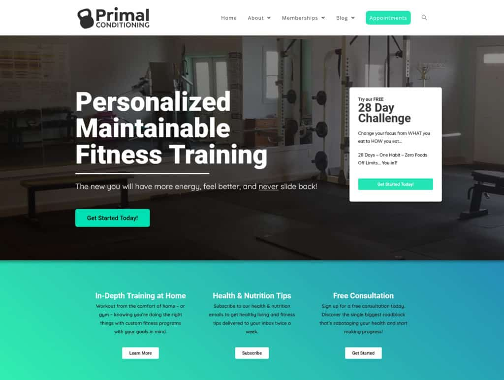 Primal after website redevelopment