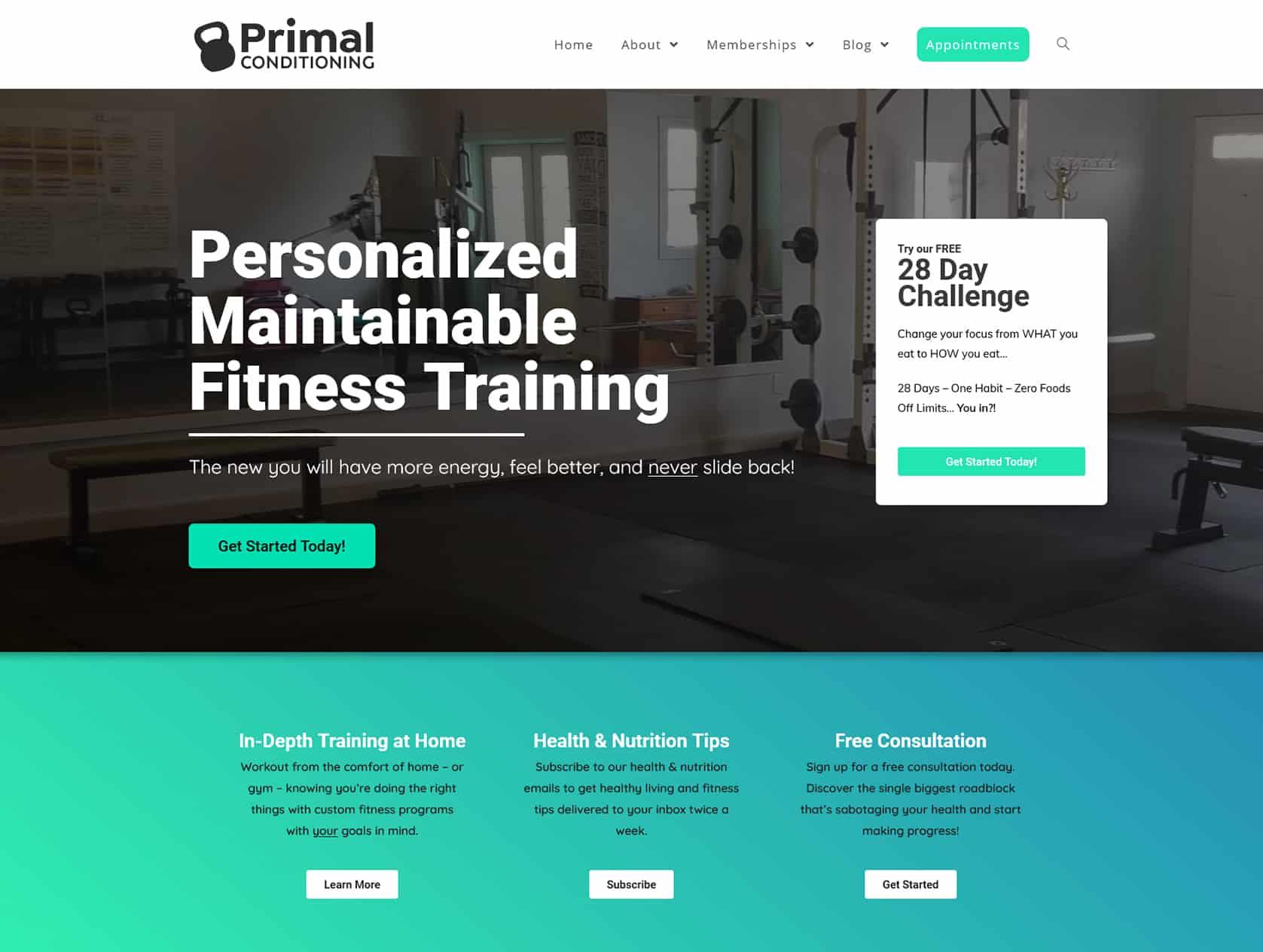 Primal after website redevelopment