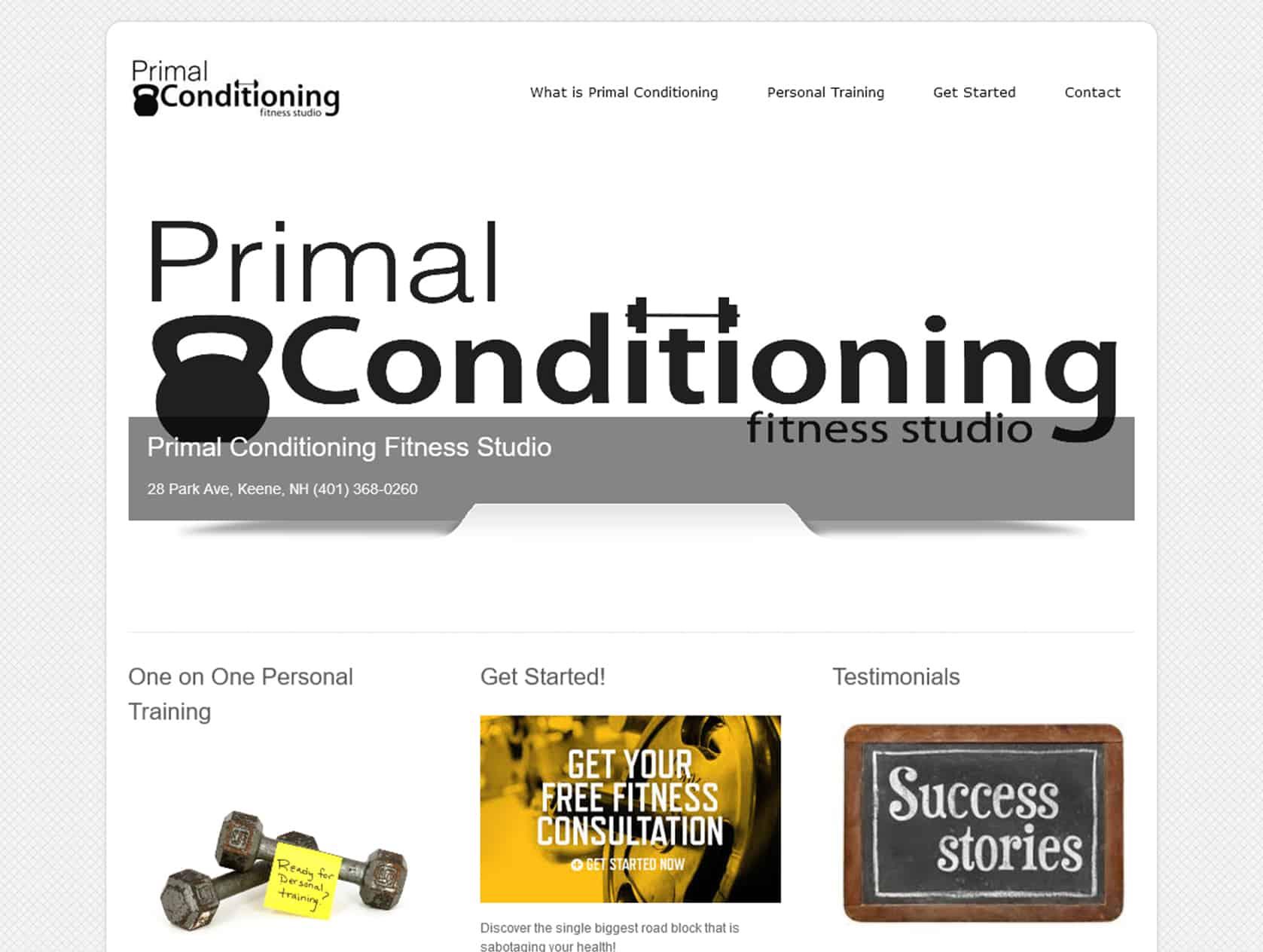Primal before website redevelopment