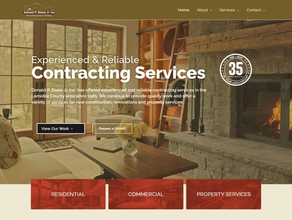 Stowe Builder After website redevelopment