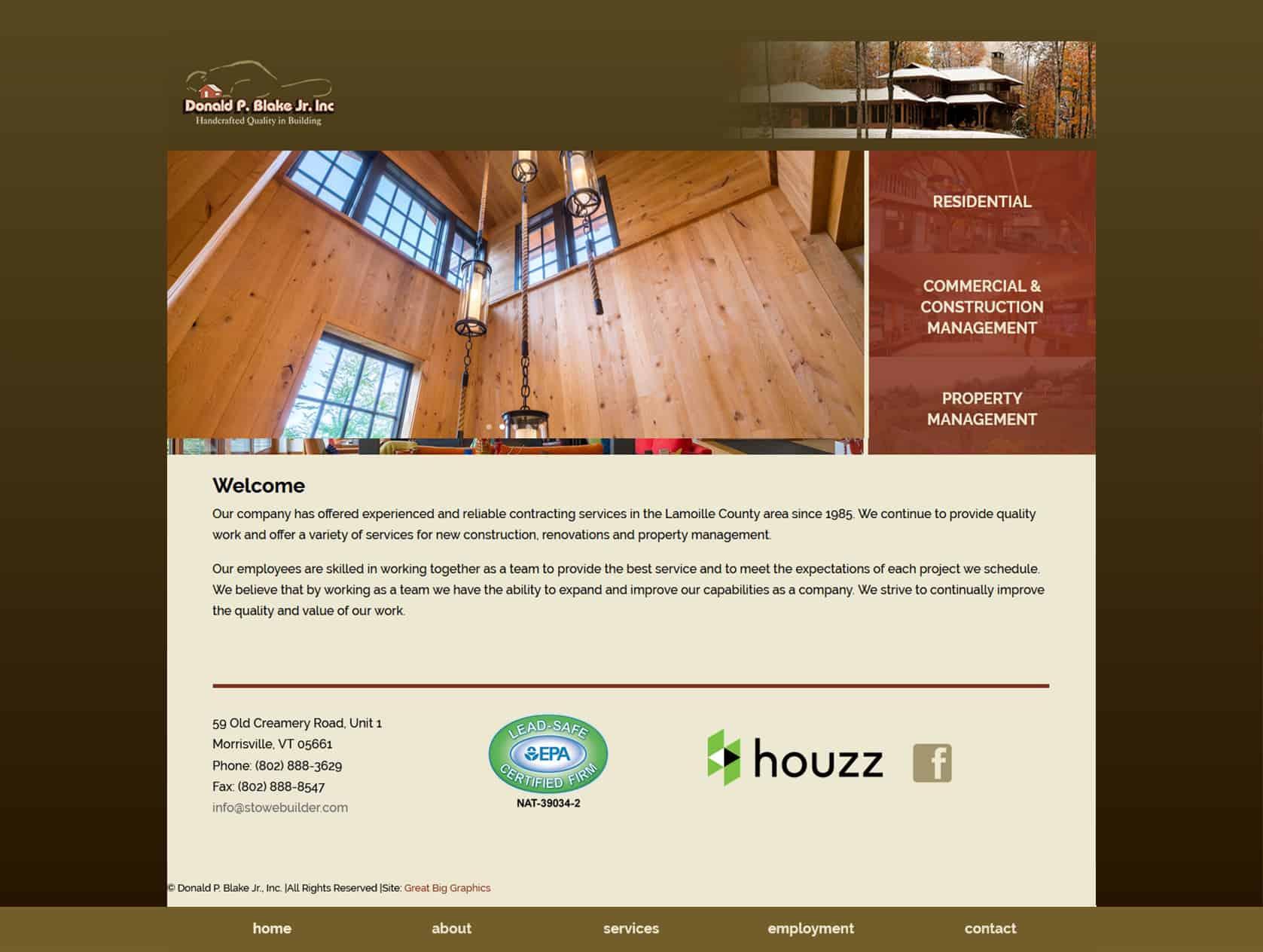 Stowe Builder before website redevelopment