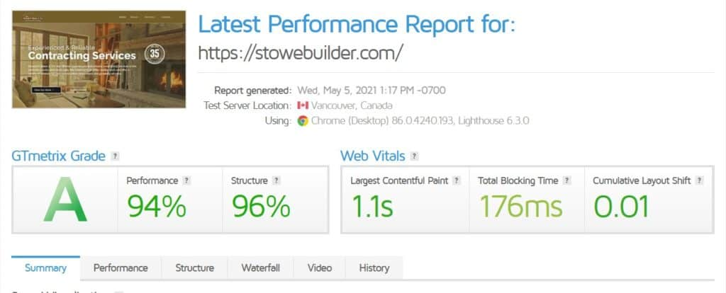 stowe builder speed AFTER redesign
